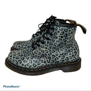 Dr Martens 101 Psycho Leo Charcoal Leopard 8 2145